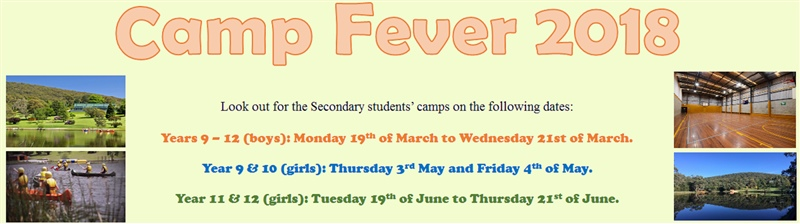 Secondary students' camps