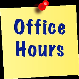 Office hours during holidays and report posting